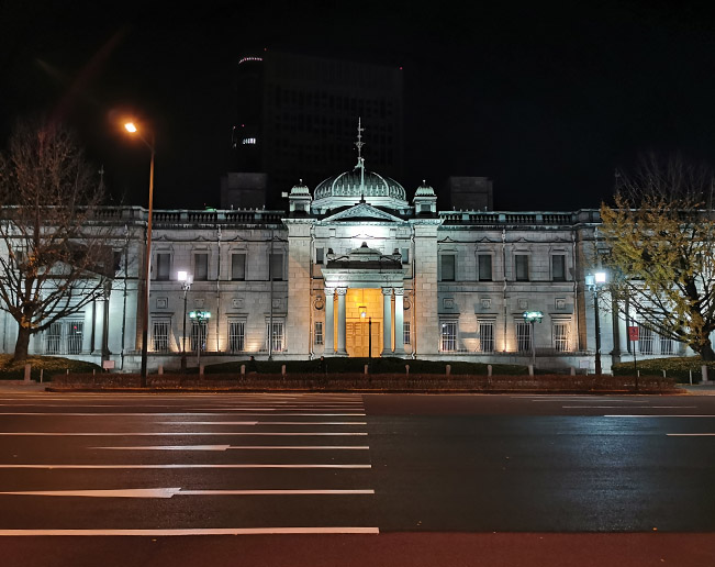 Bank of Japan Osaka Branch Lighted up